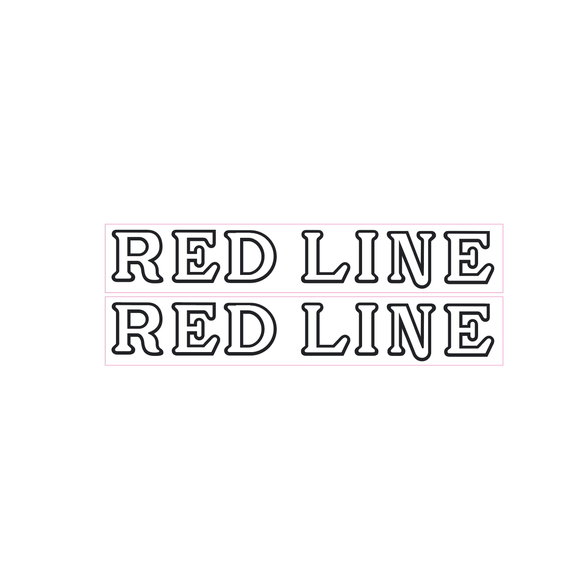 Redline early fork decals - white