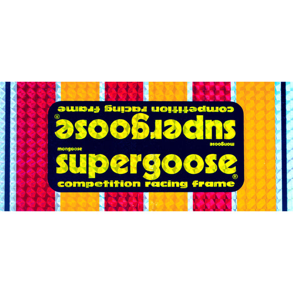 1980-83 Supergoose PRISM Mongoose down tube decal