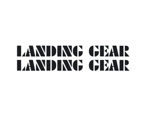 Landing Gear Fork Decal set - black / oversized