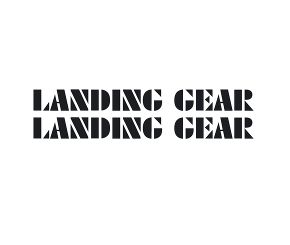 Landing Gear Fork Decal set - black