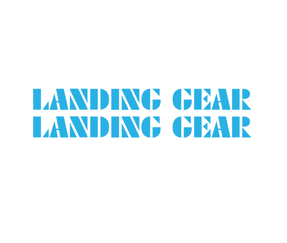 Landing Gear Fork Decal set - blue