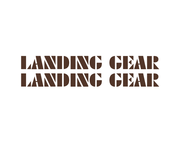 Landing Gear Fork Decal set - brown / oversized