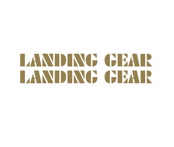 Landing Gear Fork Decal set - gold / oversized