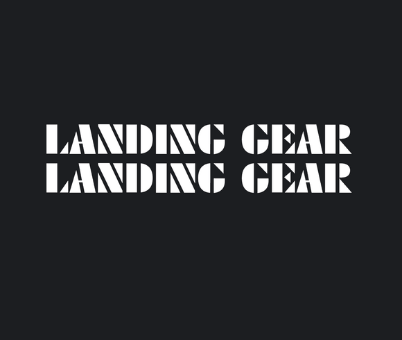 Landing Gear Fork Decal set - white / oversized