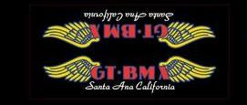 GT BMX Santa Ana down tube decal oversized - white font on clear