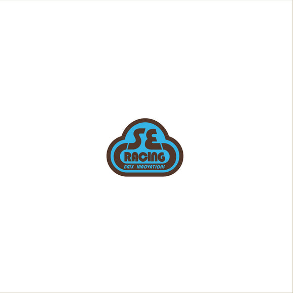 2nd gen. SE Racing head tube decal - blue/brown