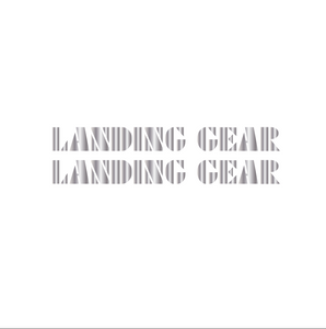Landing Gear Fork Decal set - chrome / oversized