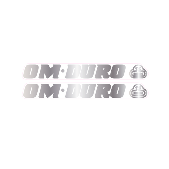 OM Duro (SE Bubble logo) down tube decal - chrome