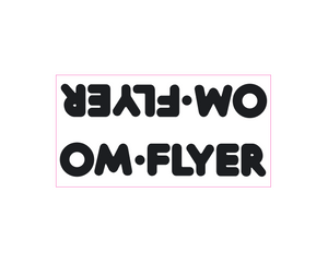 OM Flyer down tube decal - black