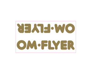 OM Flyer down tube decal - gold