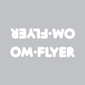 OM Flyer down tube decal - white die cut