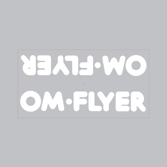 OM Flyer down tube decal - white