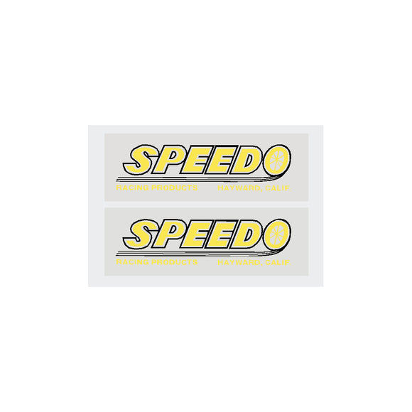 Speedo Fork Decal set - yellow