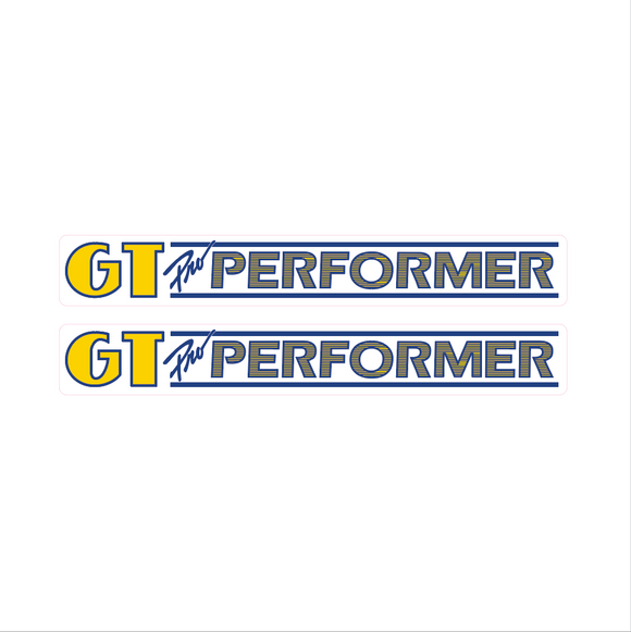 UltraHive 1987 GT Pro Performer Decal Sticker Pink Handlebars