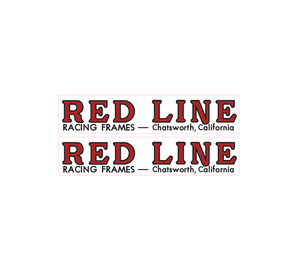 Redline Chatsworth fork decals - red