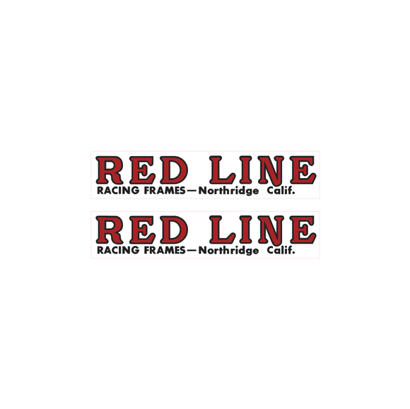 Redline Northridge fork decals - red