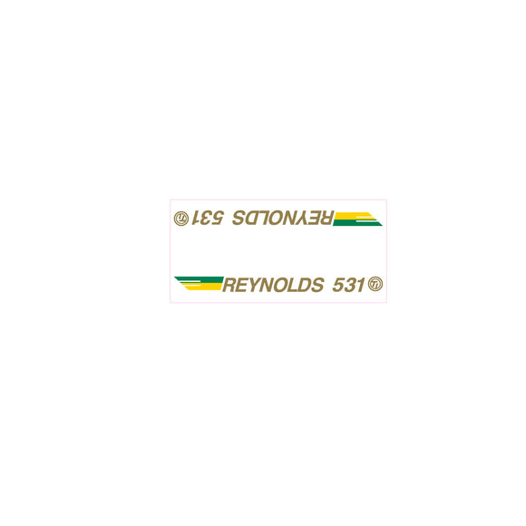 Reynolds 531 SE Racing tube decal - gold