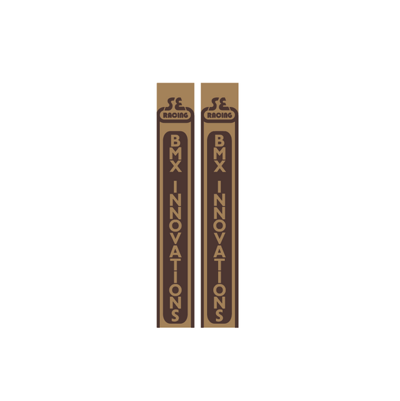 SE Racing - BMX Innovations fork set - 2nd gen. tan/brown