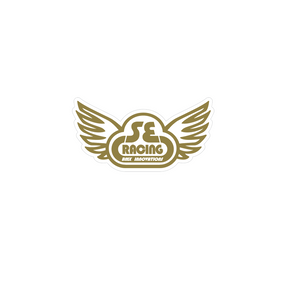 SE Racing Wings decal - gold/clear