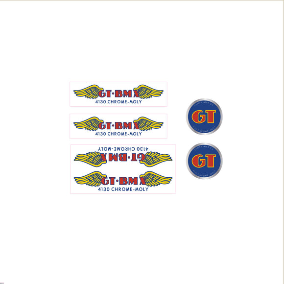 GT BMX 4130 decal set - clear