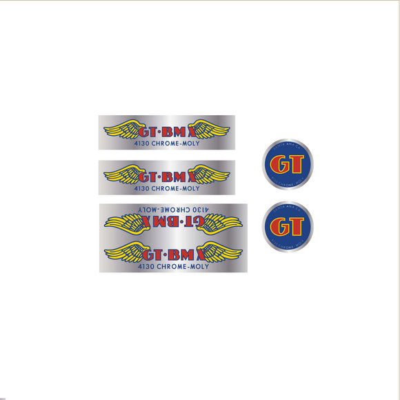 GT BMX 4130 decal set - chrome
