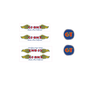 GT BMX Santa Ana decal set - blue font on clear