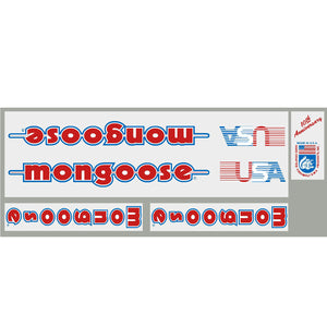 1984 Mongoose 10th Anniversary decal set