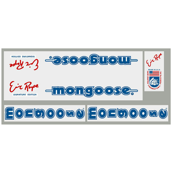 1985-86 Eric Rupe Mongoose decal set