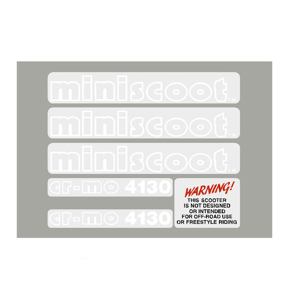 1986 Mongoose Miniscoot Decal set
