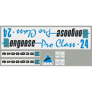 1987-88 Pro Class 24 Mongoose decal set