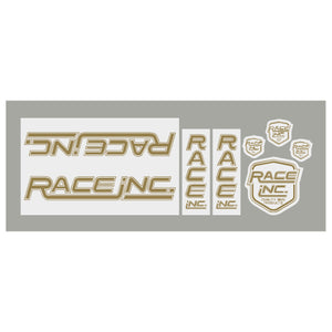 Race Inc. RM Decal set - gold/white