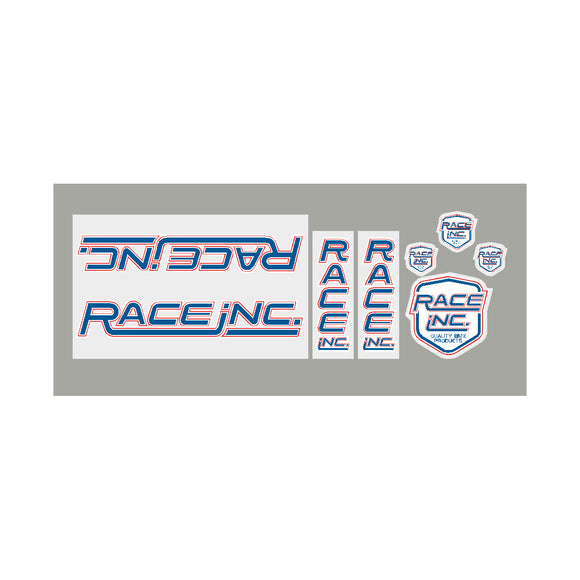 Race Inc RA decal set