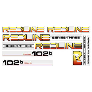 Redline 102B Series-Three (BLACK) decal set