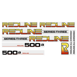 Redline 500A  Series-Three (BLACK) decal set