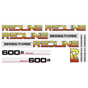 Redline 600A Series-Three (BLACK) decal set