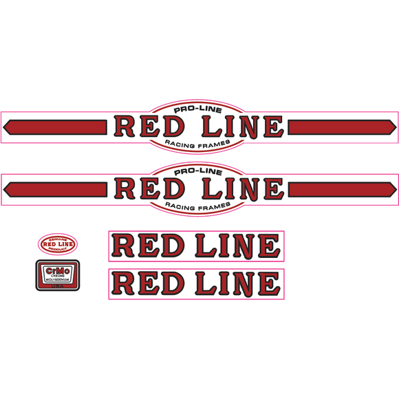 Redline Pro-Line early font decal set - red