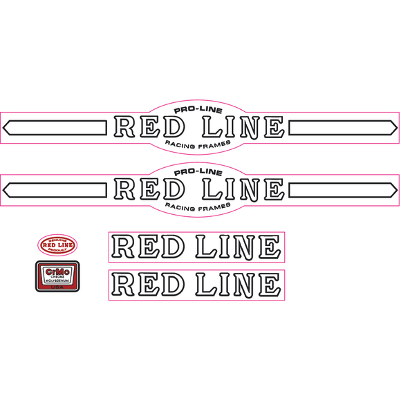 Redline Pro-Line early font decal set - white