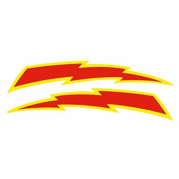 Elina - Lightning Bolt Red Yellow Seat Decal Set Old School Bmx