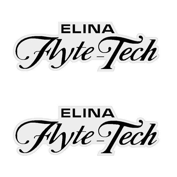 Elina - Flyte Tech Black Seat Decal Set Old School Bmx