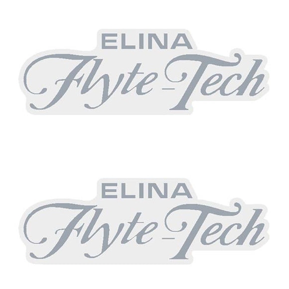 Elina - Flyte Tech Chrome Seat Decal Set Old School Bmx
