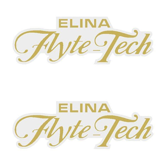 Elina - Flyte Tech Gold Seat Decal Set Old School Bmx