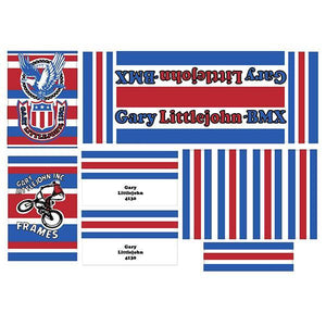 Gary Littlejohn BMX Decal set