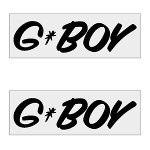 G-Boy Script - Black Horizontal Decal Pair Old School Bmx