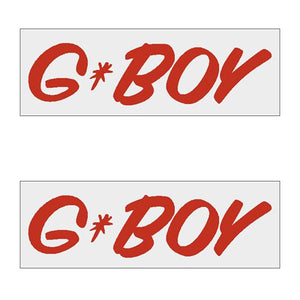 G-Boy Script - Red Horizontal Decal Pair Old School Bmx