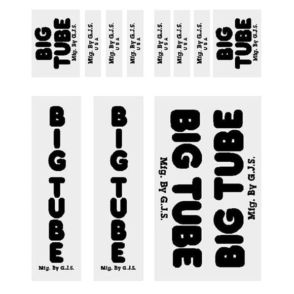 GJS - BIG TUBE - black decal set