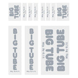 GJS - BIG TUBE - chrome decal set