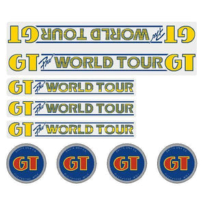 Gt - 84-85 Pro World Tour Clear Decal Set Old School Bmx Decal-Set