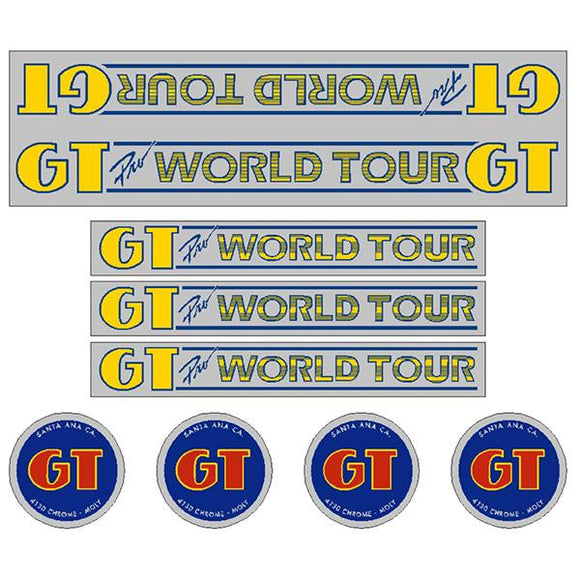 GT - 84-85 Pro world Tour - Chrome - decal set