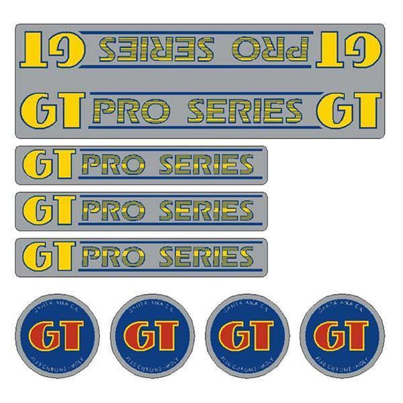 Gt - 84-85 Pro Series Chrome -Decal Set Old School Bmx Decal-Set