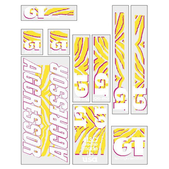 GT - 1989 Aggressor - Clear Yellow Pink- decal set
